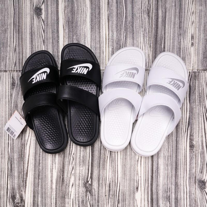 half off 82166 3918f nike/nike slippers benassi ninja double strap black | Shopee ...