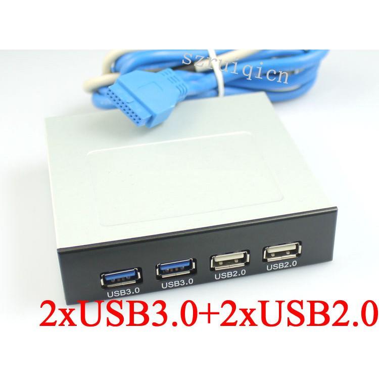 """2xUSB3.0+2xUSB2.0 Front Panel 3.5/"""" Floppy Bay Bracket USB2.0/&3.0 Combo HUB"""