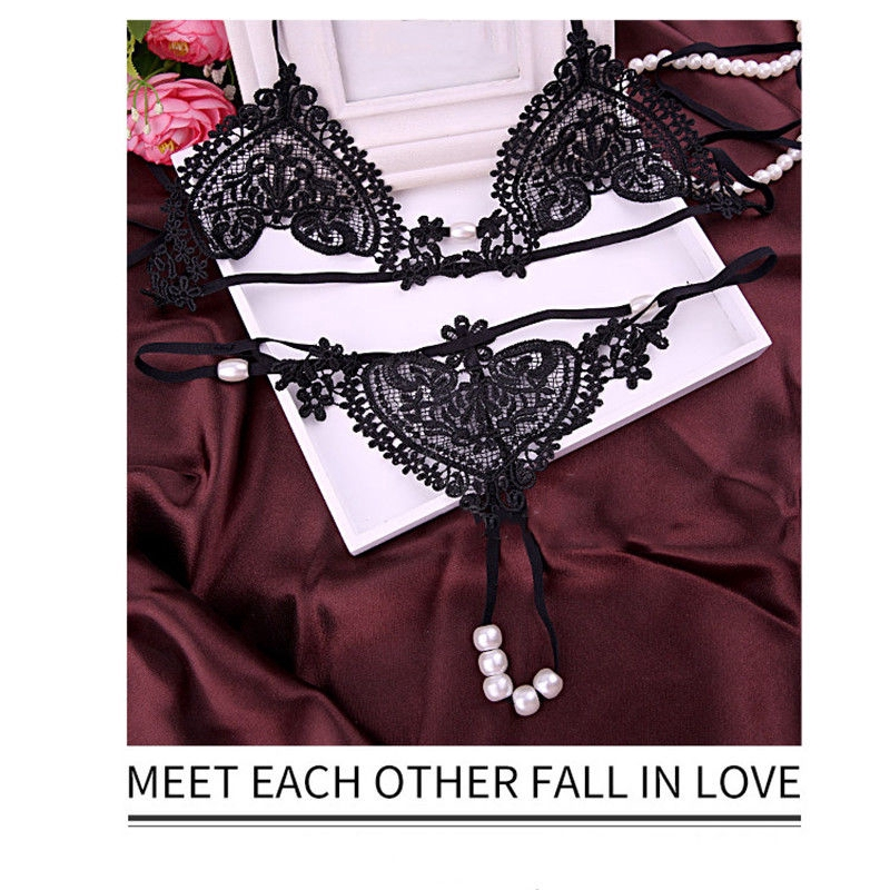 43d4db4545f1 Lingerie Underwear Hollow Flower Comfortable Lace Thongs G-String   Shopee  Malaysia
