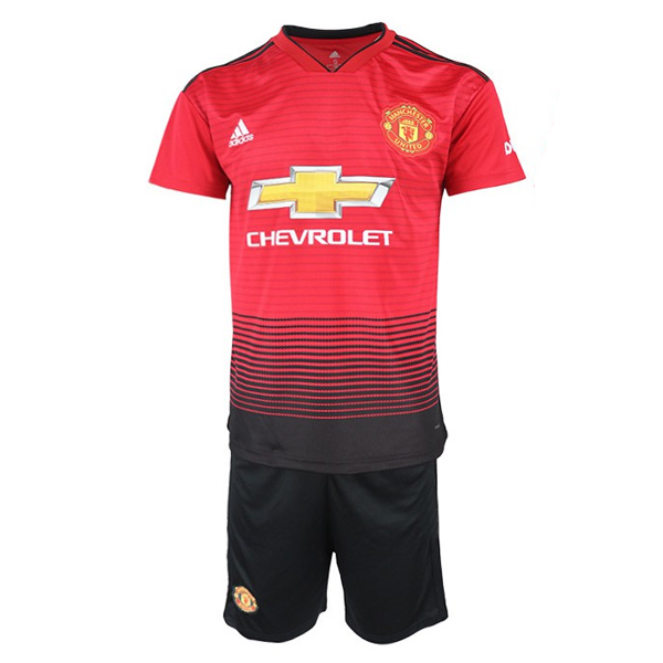 [Grade AAA] Manchester United Men Home Season 18/19 Fans Issue Jersey and Short