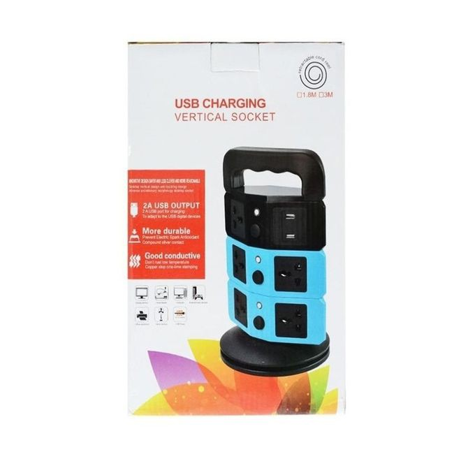 USB CHARGING VERTICAL SOCKET 180 Turn(FREE Travel Plug)