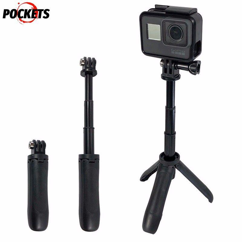 Handheld Selfie Stick w//Remote Control Case For Gopro 5//5S//4//4S//3+//3 Black