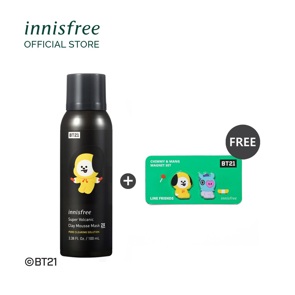 Innisfree Super Volcanic Clay Mousse Mask - 2X L2 BT21