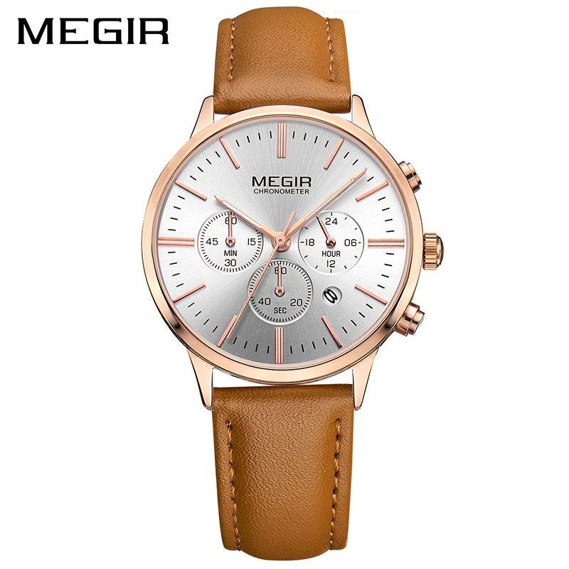 2b7aa2367f7 MEGIR Women Watches Dress Wristwatch Clock Quartz Ladies Watch ...