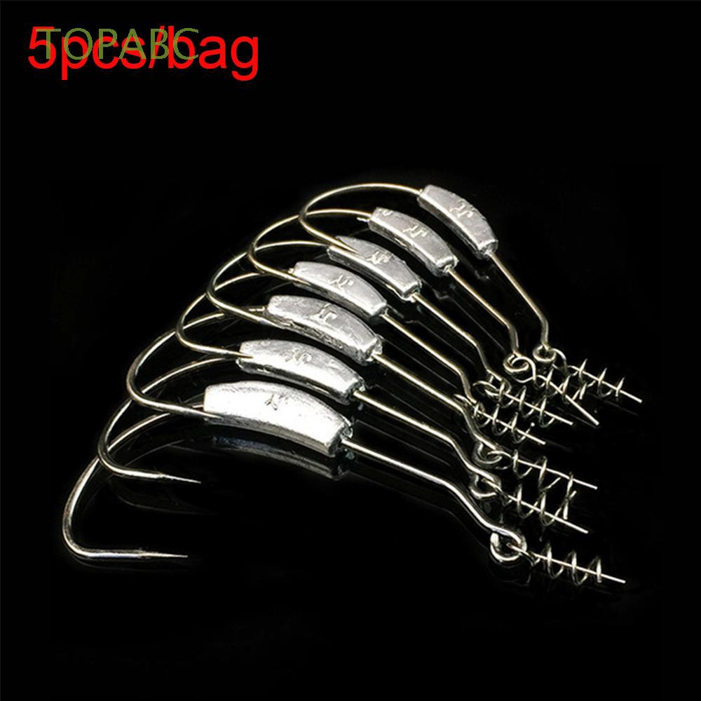 25PCS//Pack Thorn Jig Heads Carbon Steel Fishing Hooks Tackle Different Sizes