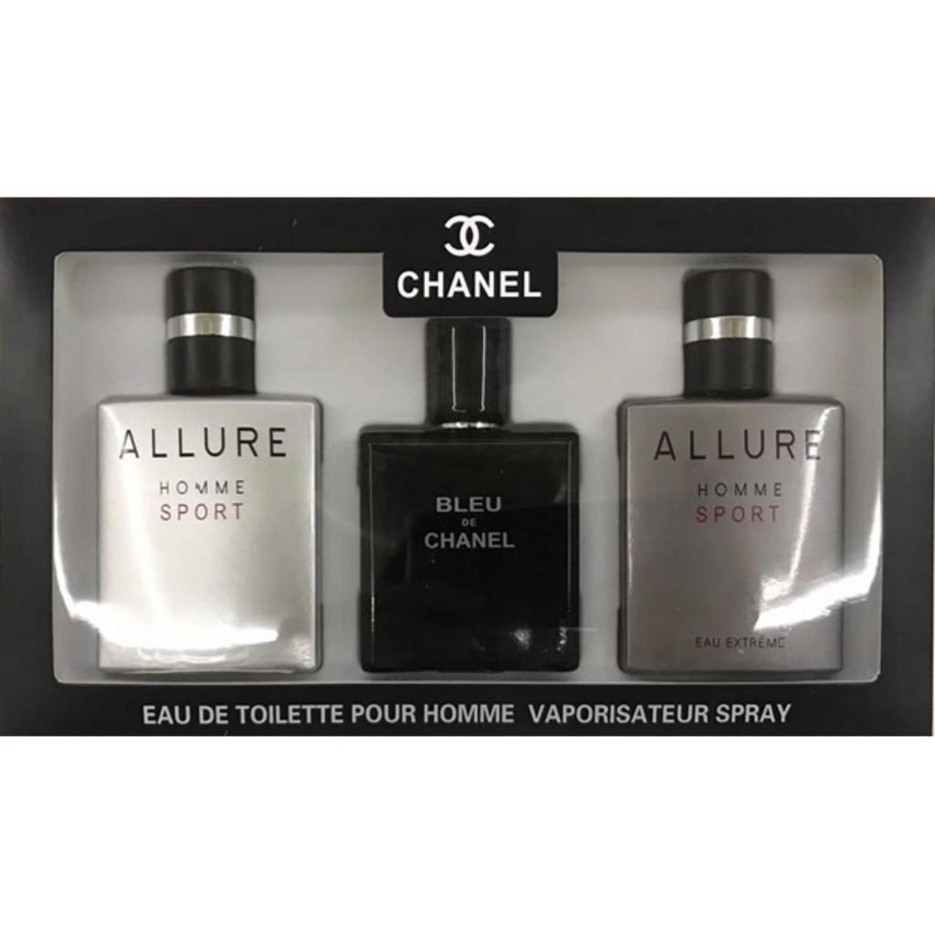 70e043a530676 Allure Homme+Allure Homme Sport Eau Extreme+Blue de Chanel Set Edt 25ml