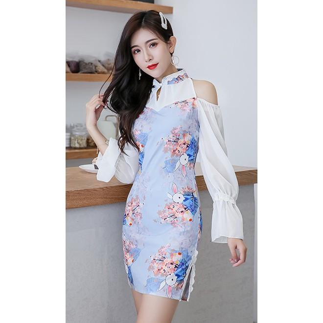 [NEW] Premium Quality Vintage Dress/Short Dress/Cheongsam 复古中国风旗袍短款性感少女显白连衣裙