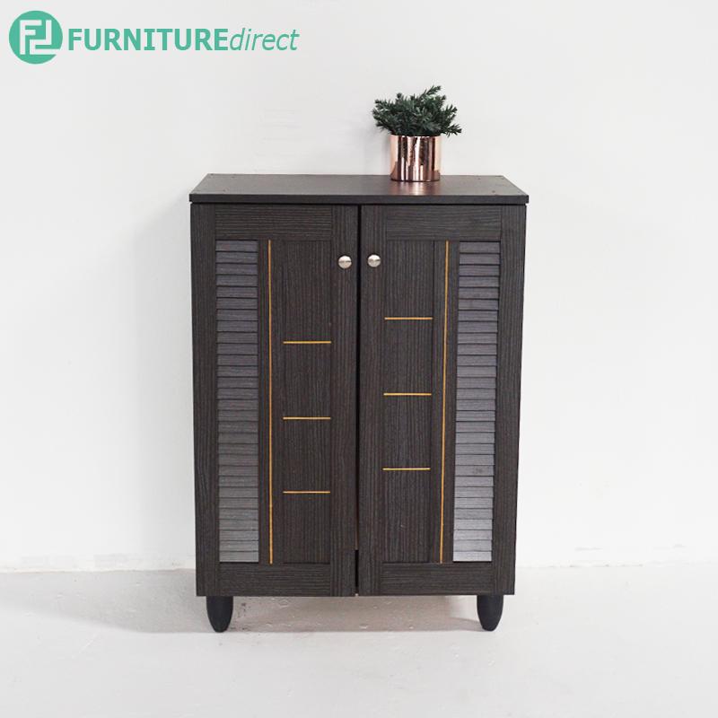 Furniture Direct JORDAN 2 door shoe rack cabinet – Wenge