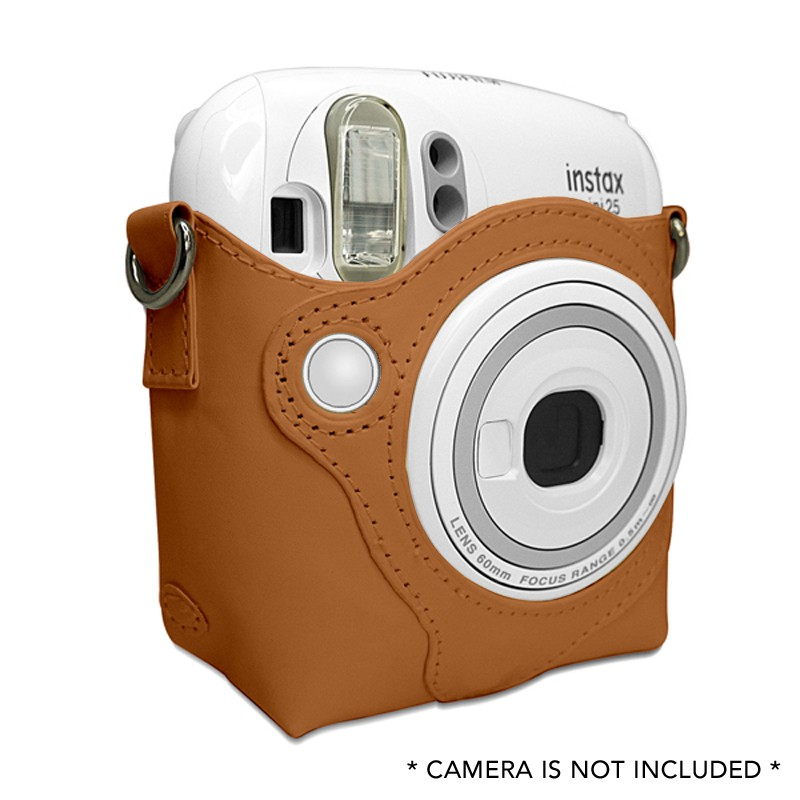 กระเป๋าหนัง PU ขนาดเล็กพร้อมสายคล้องสำหรับ Fujifilm I