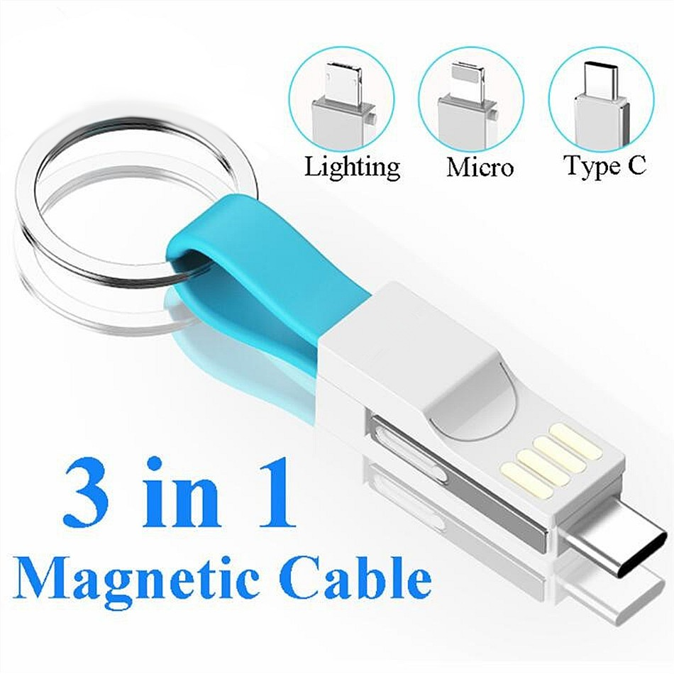 Chargers Accessories & Parts Magnetic Micro Usb Type-c Charger Data Charging Cable Cord Keychain 9cm Short Micro Usb Charger Data Cable Cord Usb-c Cable
