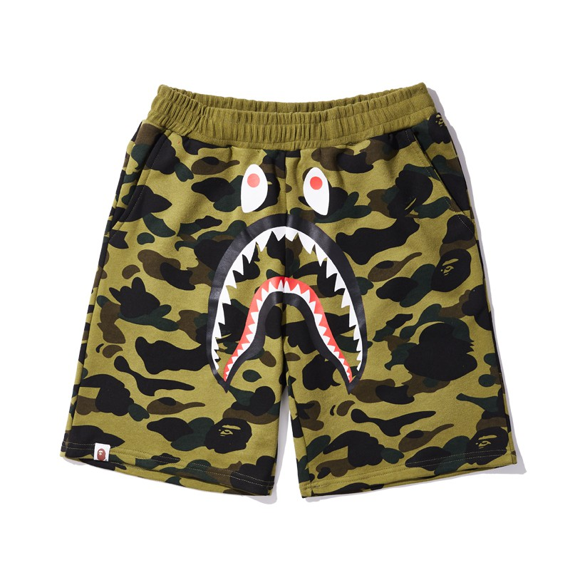 87a5435a Sportlife Bape how many camouflage stitching shark mouth short pants |  Shopee Malaysia