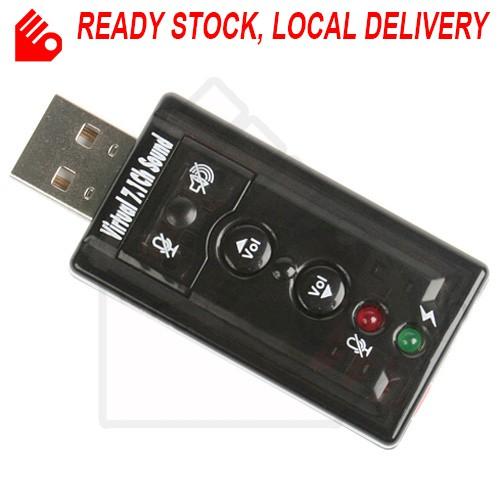 External USB 2.0 3D Virtual 7.1 Channel Audio Sound Card Adapter Converter
