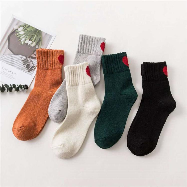7b4d118d2555 Autumn winter thickening needle pile socks solid color rabbit wool tube  female