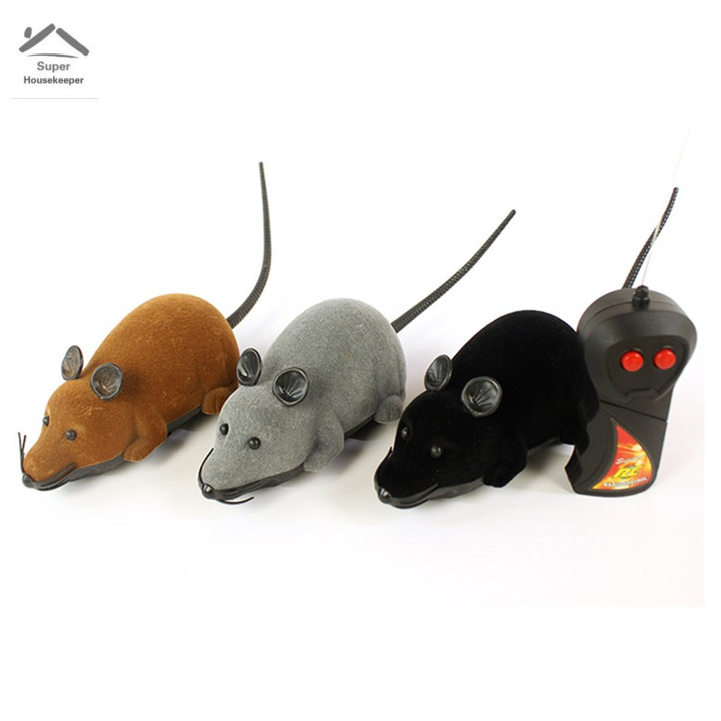 Fashion Simulation Plush Mouse with Remote Control Wireless Electronic Parody Toy for Cat Mice Toys Pet Supplies