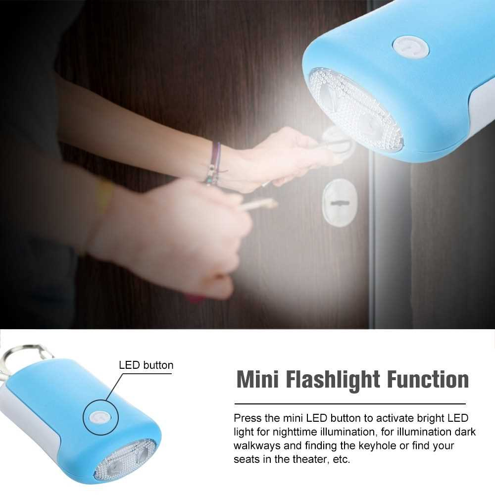 Self Defense Alarm 130dB SOS Emergency Personal Safety Alarm Keychain Scream Loud with LED Flashlight for Girl Women Ki