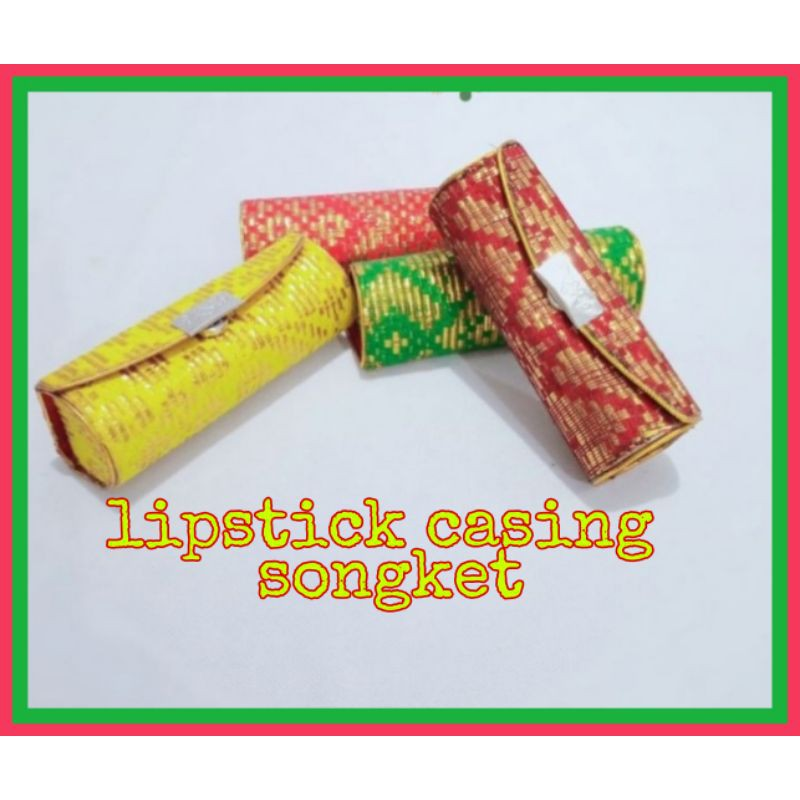 *lipstick case songket* kotak lipstick *lipstickcasing *lipstickbox