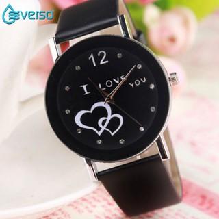Couple Watches LOVE Korean Style Analog Watch Cowo Cewe Jam Tangan Kulit. 7c09cdd00d