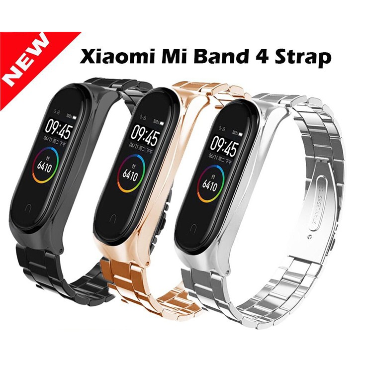 Mi Band 4 Metal Strap Xiaomi Mi Band 4 Stainless Steel Replace Strap