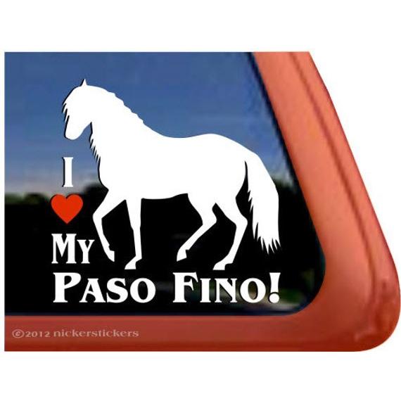 Paso FinoHigh Quality Vinyl Horse Window Decal Sticker