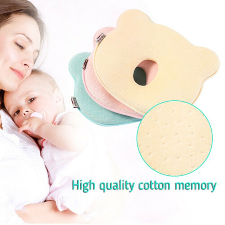 Strawberry,100/% Cotton-White Newborn Baby Travel Pillow-Baby Neck Support Pillow for Toddler Car Seat to Protect Babys Head