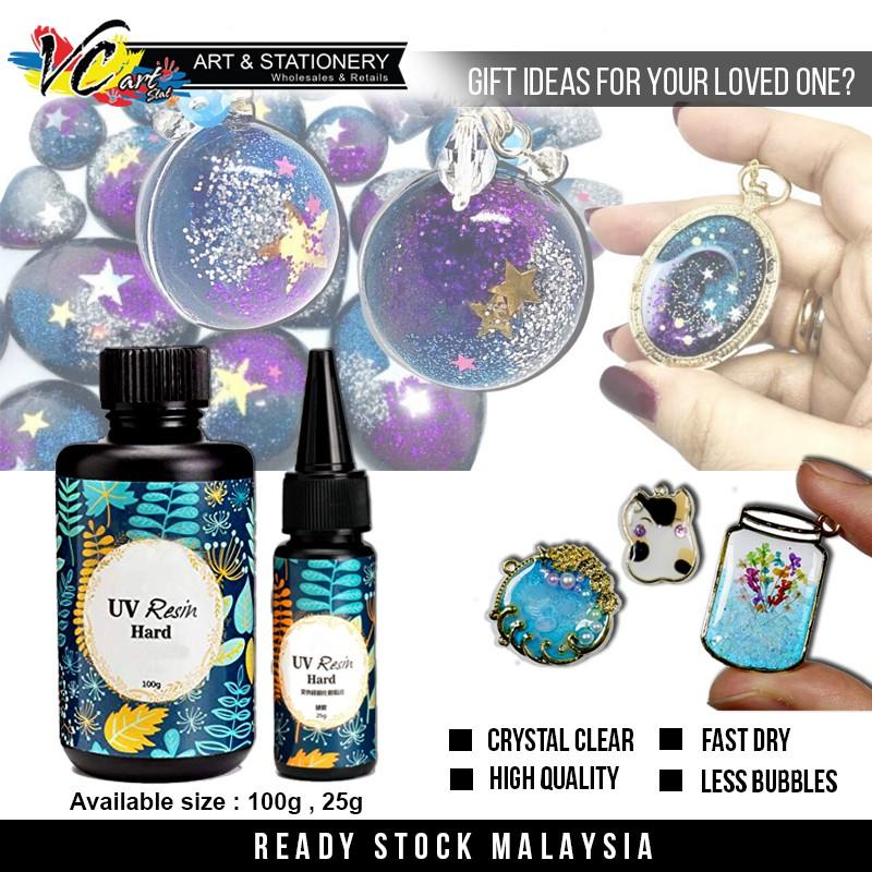 Craft  E Crystal Clear UV Resin (25ML/100ML) - Fast Dry