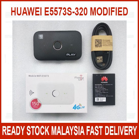 HUAWEI E5573 E5573S-320 MODIFIED UNLOCKED 4G LTE MIFI MODEM WIRELESS ROUTER  UNLIMITED HOTSPOT TETHERING