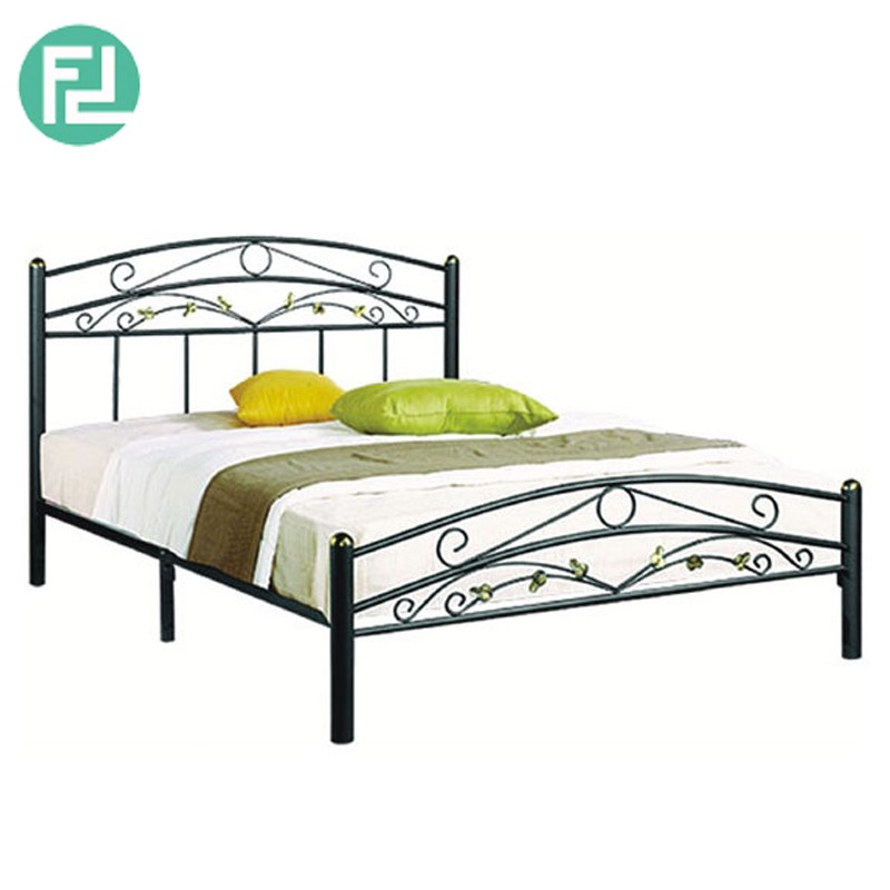 Furniture Direct EMERALD queen size metal bed- black