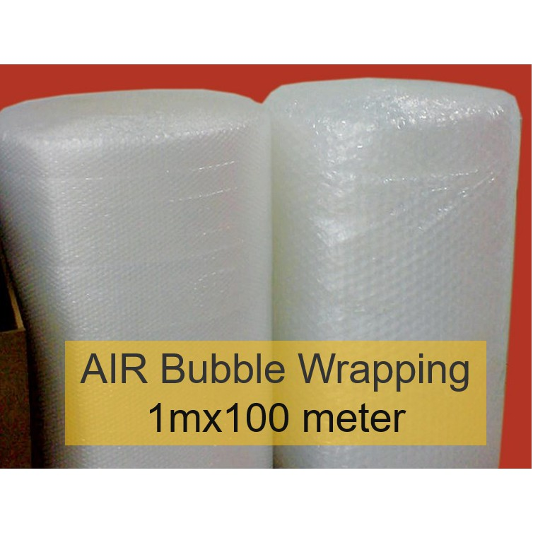MALAYSIA V] 1 X 100 METER  PEMBALUT BUBBLE WRAPING / AIR Bubble Wrapping 1mX100 METER SINGLE LAYER