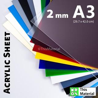 A4 Acrylic Clear Sheet Papan Perspek 210 x 297 mm +/- 2 mm