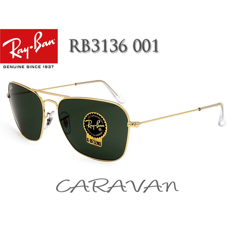 f75321c4fc5a3 Original RayBan Caravan RB3136 001