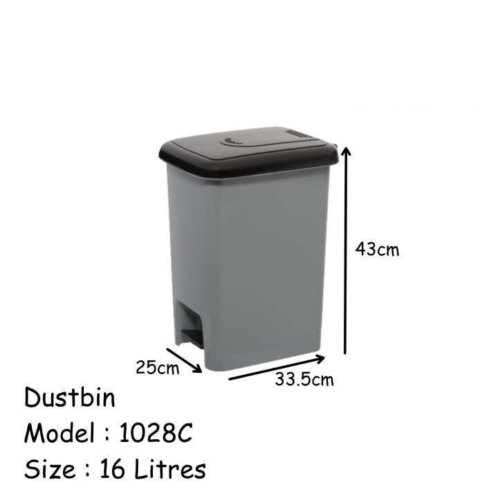 1028C Dustbin 16L - Century brand tong sampah Step Dustbin With Inner Bin