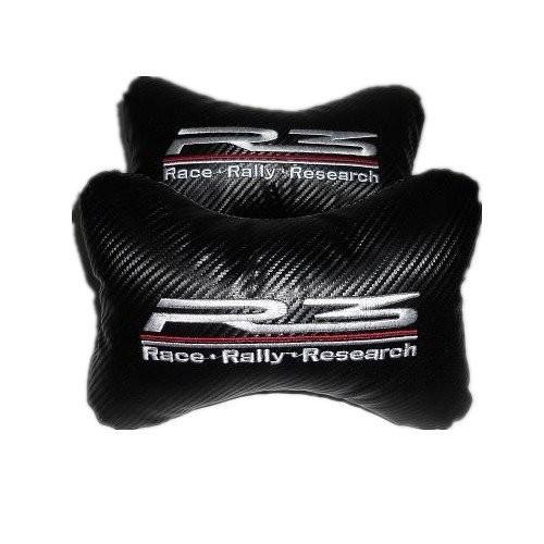 R3 Carbon Embroidery Logo Car/Auto Head/Neck Rest Pillow(2 Pcs)