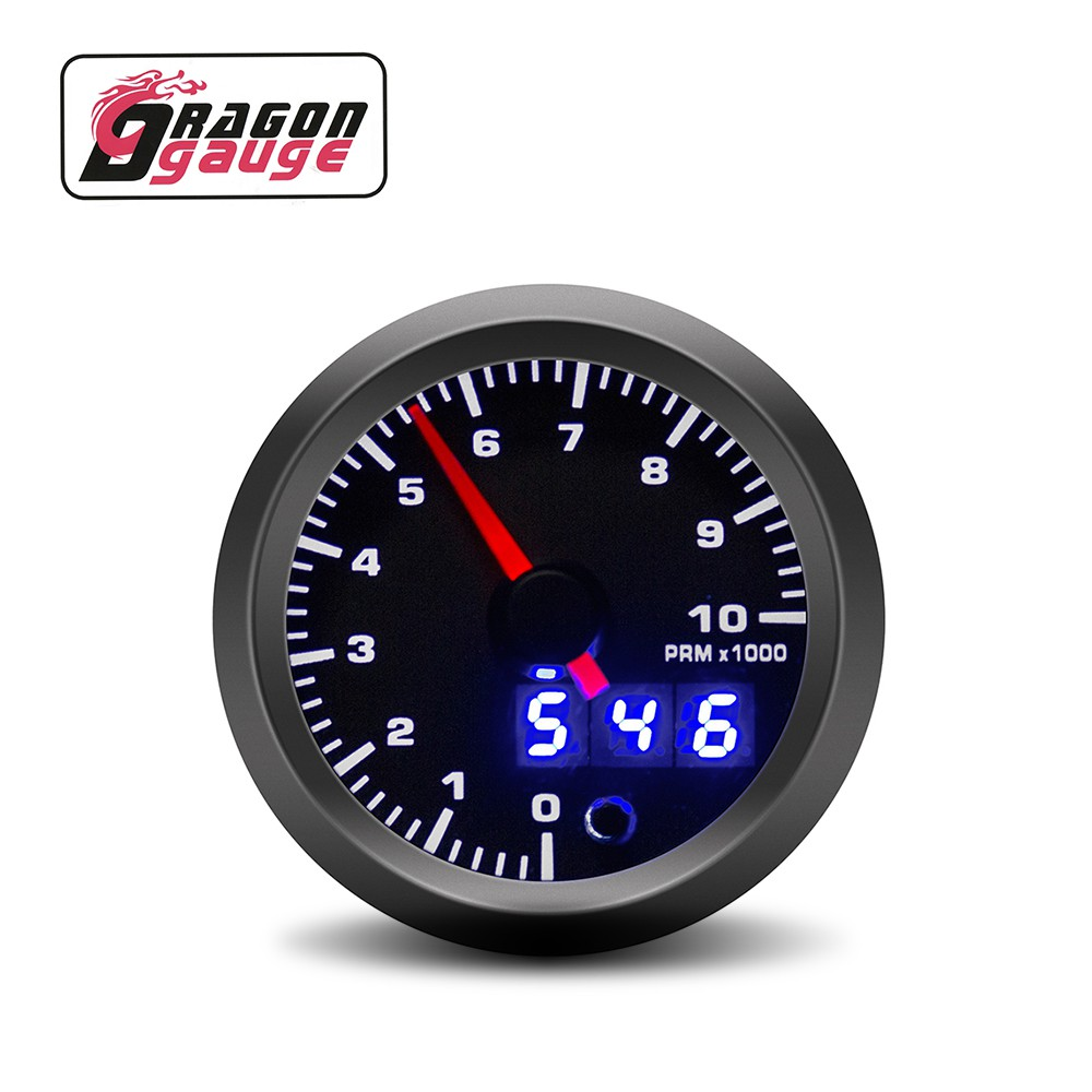 2 52mm LCD Digital 7 Color Display Tachometer RPM Gauge Car Motor Gauge,Car Instruments
