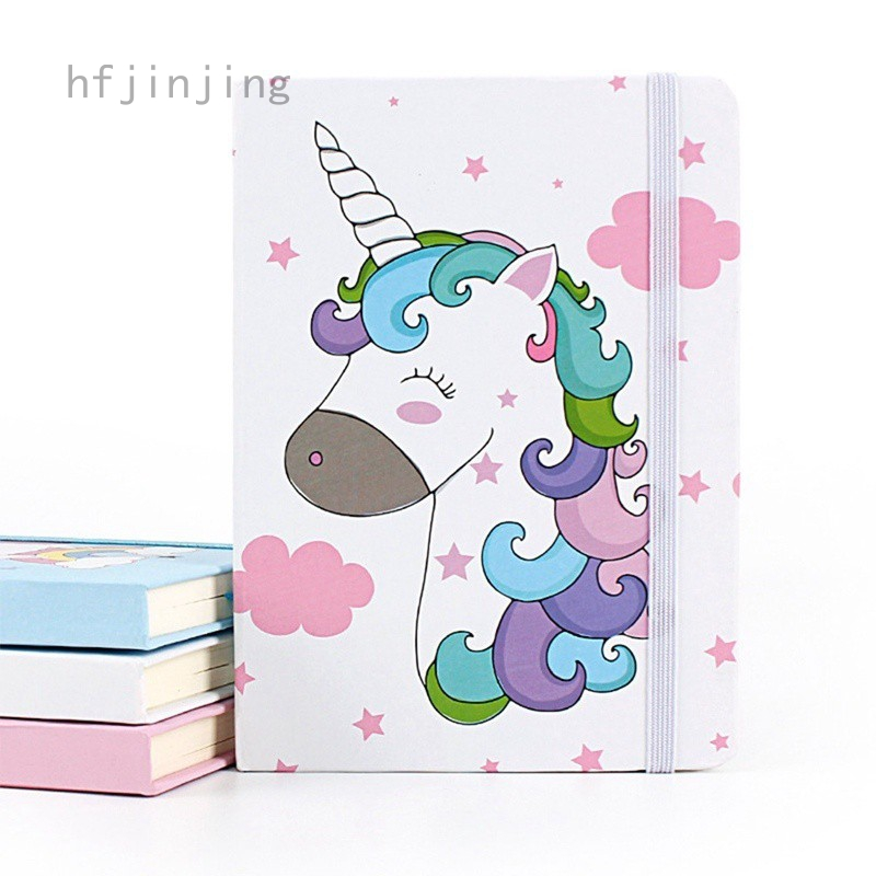 406fffccc2 hfjinjing Kawaii Unicorn Printing Notebook Cartoon Diary Planner Notepad  for Kids Gift