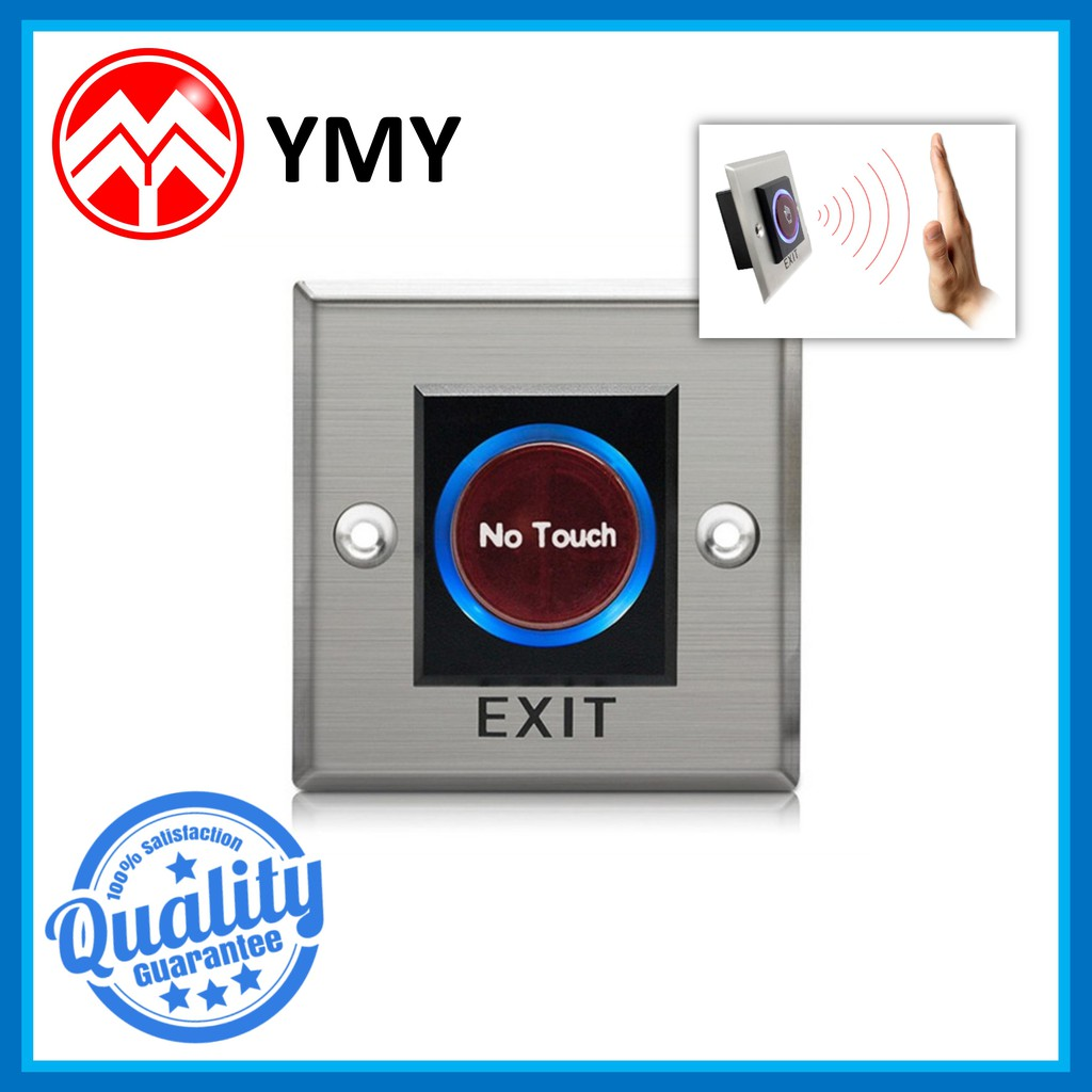Infrared Sensor Switch No Touch Contactless Door Release Exit Button with LED Indication Door Access Control