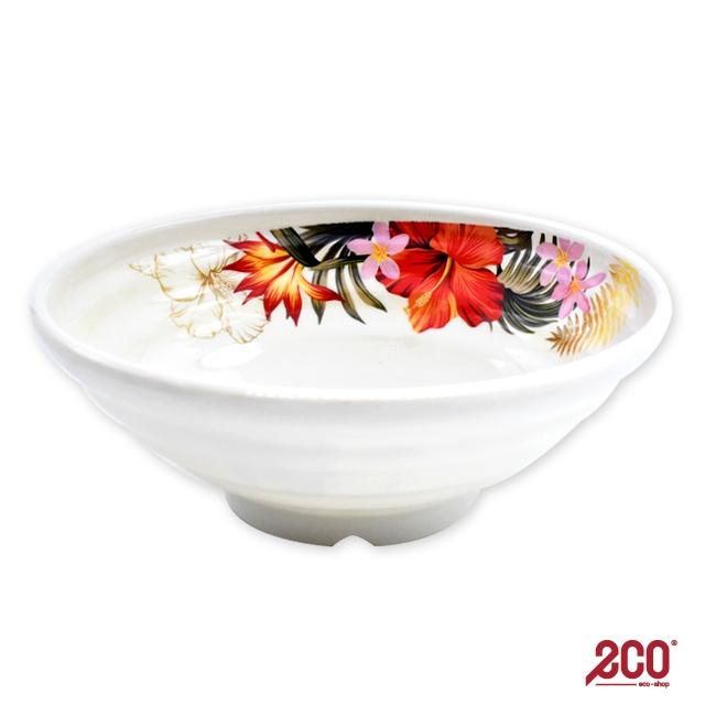 Hibiscus Melamine Bowl 7 Inch (Approximately 17.5CM) - M97