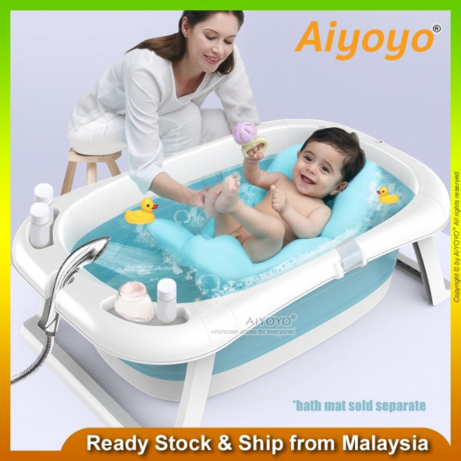 Baby Folding Bathtub Baby Bath Tub Baby Bathtub Newborn Infant Baby Swimming Pool Space Saving Kid Seat Toddler Cushion