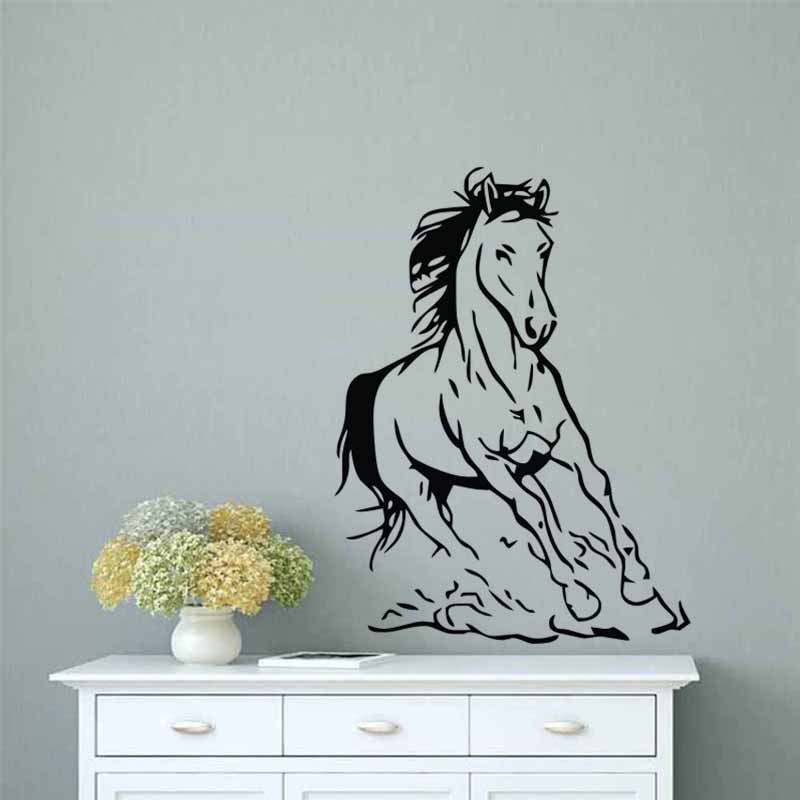 Horse Wall Stickers Home Decorations Animals Wallpaper For Bedroom Shopee Malaysia