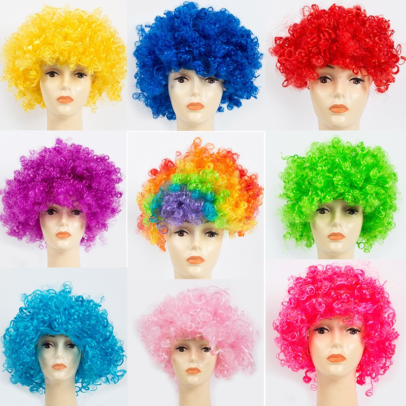 CURLY AFRO WIG FANCY DRESS PARTY CLOWN DISCO FUNKY MENS LADIES 70S HAIR COSTUME