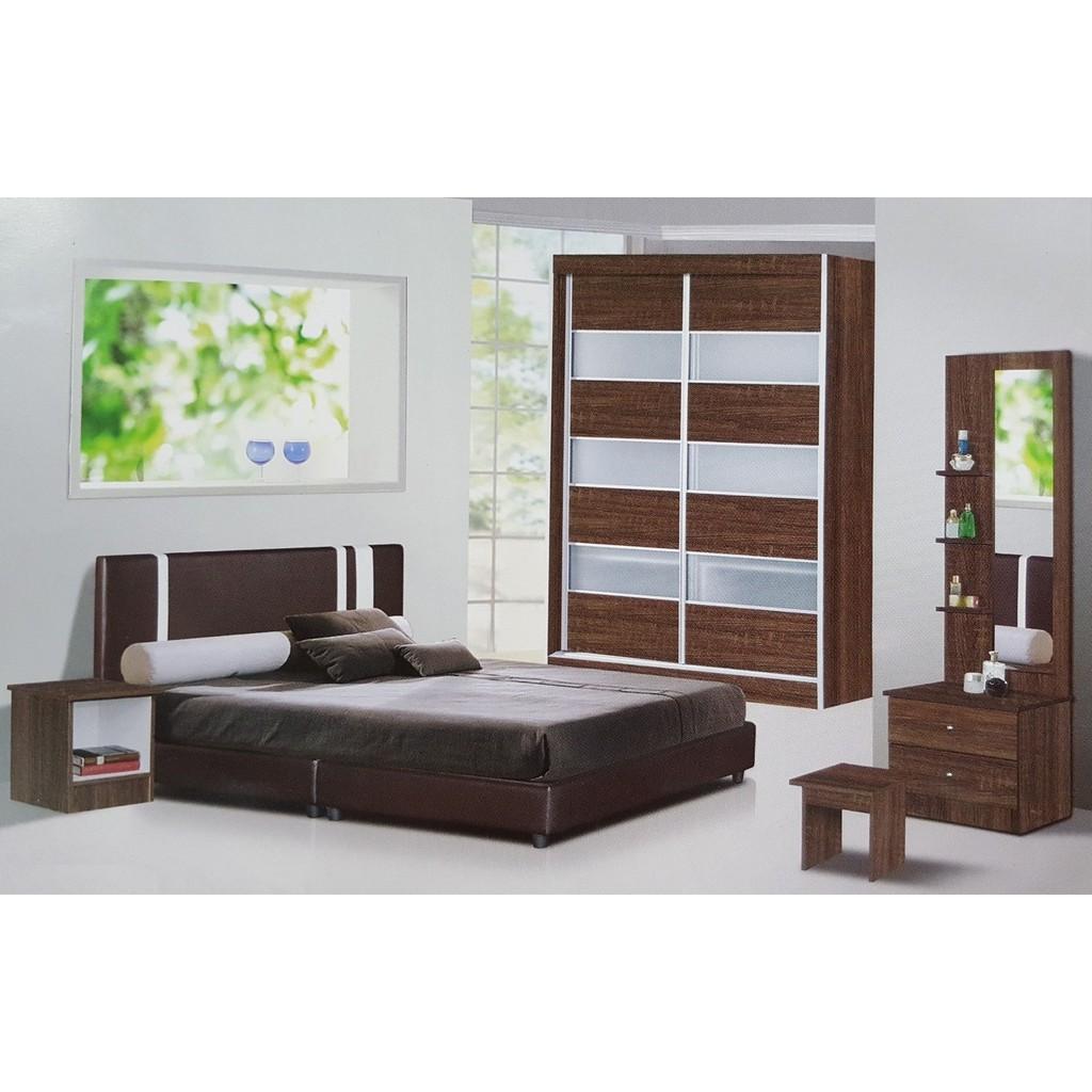 New Design Bedroom Set Wardrobe 4 X 6 Brown Shopee Malaysia