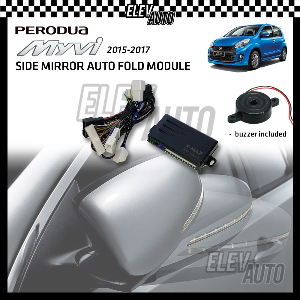 Side Mirror Auto Fold with Buzzer Perodua Myvi Icon 2015-2017