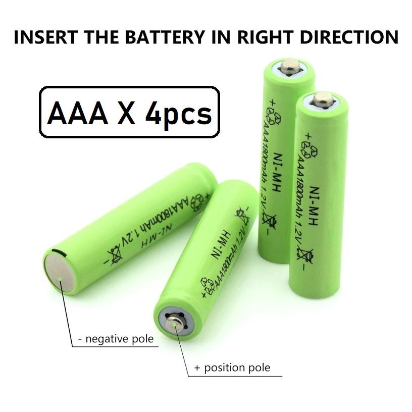 [ READY STOCK ] ( 8 Pcs Free Usb Charger ) AA 3800mAh/AAA 1800mAh 1.2V NiMH Rechargeable Battery Pengecas Jualan Murah