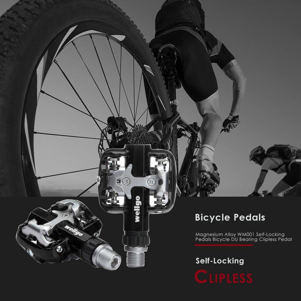 2f957bc80f9 Wellgo WM001 Self-Locking pedals mtb bike clipless pedal Magnesium Alloy  Pedals
