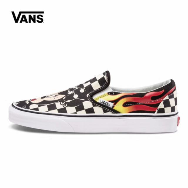 bc938f76e8 Mastermind Japan x Vans 2019 Slip On Skull Black Silk Women Casual Sneaker  Shoe