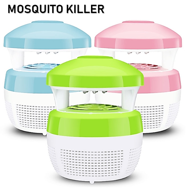 Electronic Mosquito Killer Lamp Repellent Light Pest Control Reject 6 LED【Blue】