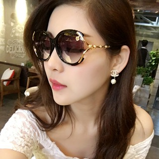 Face Long Comfort Korean Star Sunglasses Flower Female Tide Round Simple nw0OPkN8X
