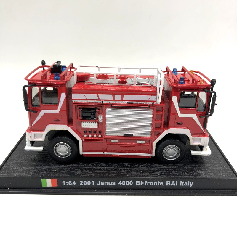 New 1:64 Diecast Fire Engine Italy Janus 4000 Bai-Fronte 2001 Fire Truck Vehicle