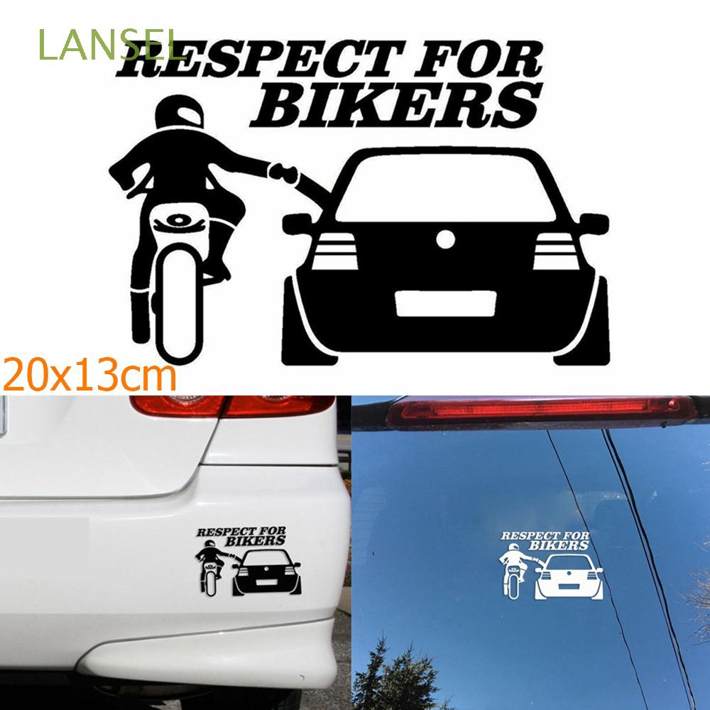 RESPECT FOR BIKERS Car Sticker 20*13cm Funny Decals Creative Window Waterproof