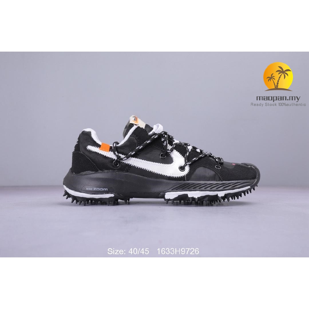 Off White X Nike Zoom Terra Kiger 5 For Men Running Shoes Nike Shoes Black Shopee Malaysia