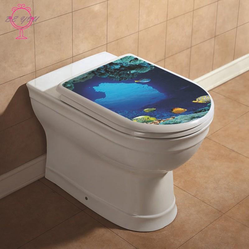 Topsales Toilet Seat WC Bathroom Art Vinyl Home Decals Decor Wall Sticker